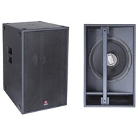 Single 18'' Sub 1250w Bass Bin Club Subwoofer