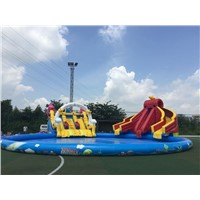 gaint inflatable water park for outdoor inflatale game