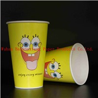 Customized Logo 16oz Disposable double wall paper cup drink cups