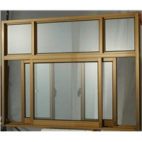 6063-T5 Aluminum profile sliding window with powder coated finish