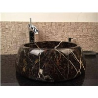 Black Golden Flower Sink,Counter Sink,Marble Wash Basin,Natural Stone Basin