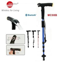 MC08B Multifunctional Sunitec Walking Stick with MP3 LED flashlight FM Radio Compass SOS & Bluetooth