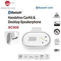 Multipoint Bluetooth Wireless In-car Speakerphone Hands Free Car Kit support 2phones simultaneously