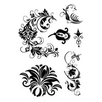 black lace temporary tattoos