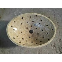 Mosaic Marble Sink,Natural Stone Basin,Marble Sinks,Bathroom Sink