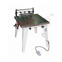 Manual vacuum screen printer