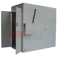 Vertical screen drying cabinet