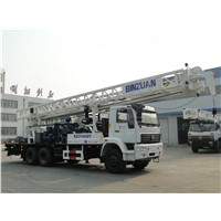 water  well  drilling  rig  on truck