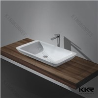 Wholesale Factory Cast  Resin Stone Bathroom Basin