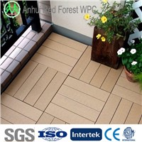 Outdoor Garden Wooden Composite Decking / Patio Yard WPC Decking floor / Interlocking Decking tiles