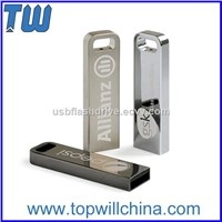 Slim Rectangle Metal USB 3.0 Flash Drives 8GB 16GB 32GB with Free Company Logo & Accessories