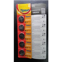 Tipsun CR2032 lithium battery in card blister package