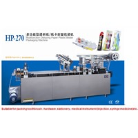 Blister packing machine for toothbrush /medical instrument