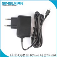 CE GS UL FCC KC safety marked 5v 2a micro usb power adapter