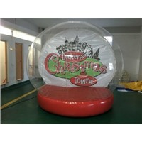 giant human inflatable snow globe