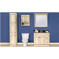 China Factory Bathroom Furniture Wooden Bath Cabinet