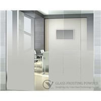 Gradual change effect glass frosting powder