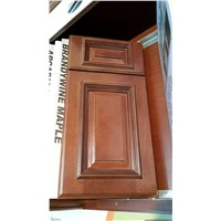 Maple Kitchen Cabinet Wood Construction Raised Panel Door