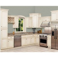 Solid Birch Face Frame Shaker Style Kitchen Cabinet Paint Color Customized