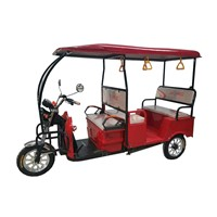 Electric Three Wheeler Pedicab Bike Tricycle with ABS Fiber Roof