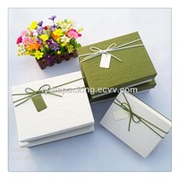 exquisite paper packing box for gift packing with ribbon closure