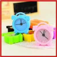 Fashion mini silicone table clock desk clock alarm clock-YC04001