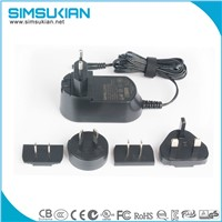 UL CE GS PSE KC SAA RCM listed 9v 12v interchangeable power adapter