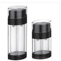 2x10ml 2x15ml 2x30ml Oval Cosmetic Dual Chamber Airless Bottle