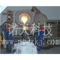 high capacity vertical type IF induction melting furnace with low power consumption