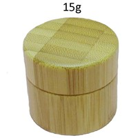 Empty 15gm 0.5 Ounce Bamboo Cosmetic Jar with PP Inner