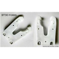 White Plastic BT 30 Tool Changer Holder Forks for BT30 ATC Toolchanger