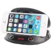 car bluetooth hands free smart phone holder with mp3 player fm transmitter remoto control