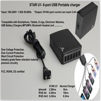 xtar six port usb portable charger