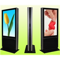 55 Inch Double Sides Floor Stand LCD Digital Signage Display