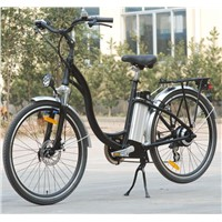 City Lithium Battery Electric Bicycle with LED Headlight (TDE-001)