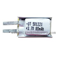 Li-polymer battery  501221 3.7V 80mAh lithium polymer battery