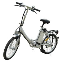 Aluminium Alloy Folding Lady Lithium Battery Electric Bike with Shimano 7 Speed (TDN-003)