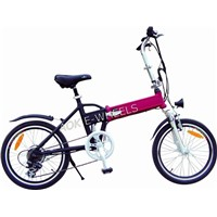 Folding Light Lithium Battery Electric Bike with LED Headlight and Power Indicator (TDE-039B)