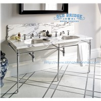 High quality granite Bathroom Base Cabinet with metal legs