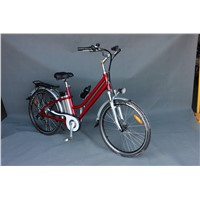 Lithium Battery E-Bike with Front Disk Brake/ Rear V-Brake (TDE-038B)