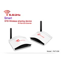PAKITE 5.8ghz Wireless AV Sender Transmitter connected between tv and set top box PAT-536