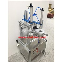 Pnumatic Manual Round Soap packing wrapping machine