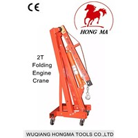 2T folding engine crane for car lift