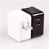 2 port USB desktop charger, tablet charger, desktop travel charger 5 v 3.4a power supply