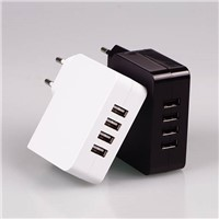 4 port USB desktop charger, tablet charger, desktop travel charger 5 v 4.9a power supply