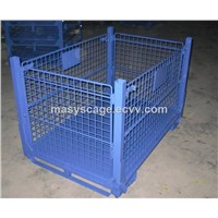Heavy-Duty Folding Stockable Hot Sale Metal Wire Mesh Container