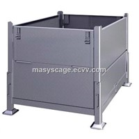 Heavy Duty Collapsible Stacking Steel Pallet Box Container