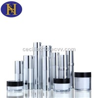 Unique Design Cosmetic plastic airless bottles set