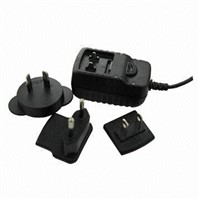 12W switching adapter with interchangeable plugs