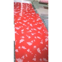 G350 soft gi based ppgi coils in red flower printed ppgi